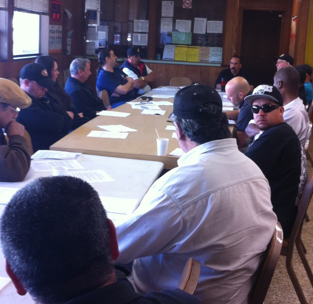 Members from the different Master Contract houses came to the Union Hall on Sunday to discuss their contract.